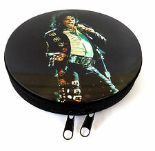 Michael Jackson: CD holder / case–Metal with zip opener-Double sided image NEW