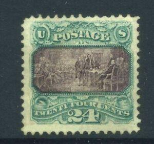 US Sc120 1869 24c Mint LH Cat $7500
