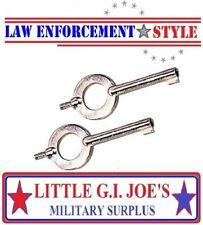 Handcuff Key Universal For ASP, Peerless, S&W,Rothco YOU GET ( 2 ) HANDCUFF KEYS