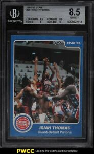 1984-85 Star Basketball Isiah Thomas ROOKIE RC #261 BGS 8.5 NM-MT+