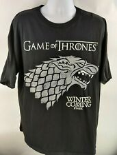 Game of Thrones Winter is Coming Stark Dire Wolf Emblem T-Shirt Men's Size 2XL