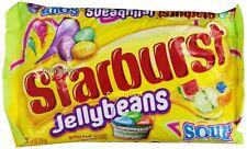 2- Starburst SOUR Jelly Bean 14oz 397g bag 6flvr SOUR fruit jellybeans BB10/2019