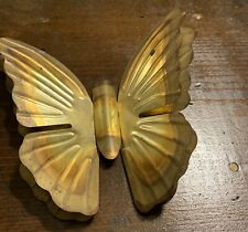 Metal Butterfly  Gold Tone Home Interior Wall Hanging Butterfly