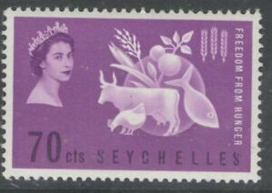 SEYCHELLES SG213 1963 FREEDOM FROM HUNGER MNH