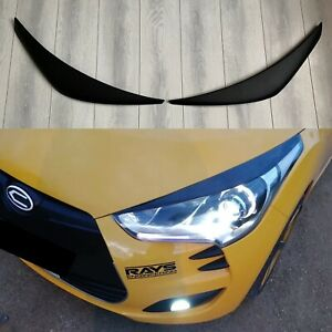 For Hyundai Veloster 2011-2019 Headlight Eyelids Mask Cover Eyebrows Eyelashes