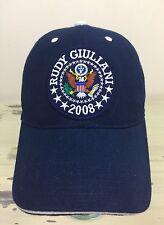 RUDY GIULIANI - 2008 Republican Presidential Candidate Navy Blue Baseball Cap