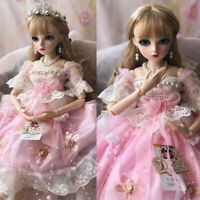60cm BJD Doll 1/3 Ball Jointed Girl + Clothes Wig Makeup Eyes Shoes Full Set Toy