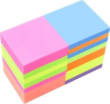 4A Sticky Notes Memo Reminder 3'' x 3'' Neon Assorted 18 Pads Total 1800 Sheets
