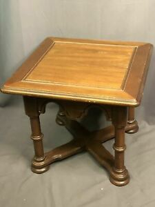 Drexel Solid Wood Side Table Vintage Country Estate Made In USA