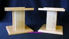 Custom Hand Made SOLID OAK Heavy Duty Speaker Stands STF Home Theater