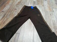Adidas pantaloni uomo/donna taglia XS Tuta Unisex marrone nuovo con etichette