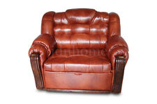 One Seater Sofa Bed with Storage / Arm Chair, Real Leather, High Quality, MODERN