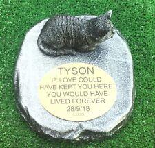Cat Memorial  pet loss gift. Cat Loss Beloved pet -  Gravestone new 3