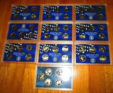 51 State Proof Quarters 1999 2000 01 02 03 04 05 06 07  09 No Box No Coa