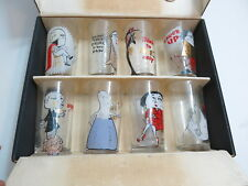 NEW NOS SET OF RETRO 1950'S OSBORNE KEMPER THOMAS TALK OF THE TOWN BARWARE GLASS