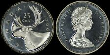 CANADA 25 CENTS 1966 SILVER (PROOFLIKE) *BEAUTIFUL CAMEO CONTRAST*