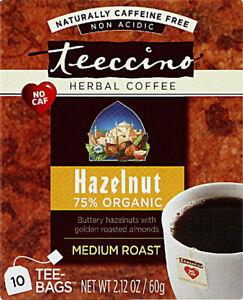 Hazelnut Herbal Coffee by Teeccino, 10 tea bag