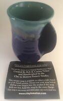 Clay in Motion Handwarmer Right Handed Ceramic Coffee Mug