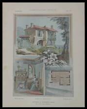 SURESNES 13 RUE GARIBALDI - 1904 - PLANCHES ARCHITECTURE - EAUBONNE