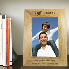PERSONALISED PHOTO FRAME Daddys First 1st Fathers Day Gift Idea Grandad Step Dad