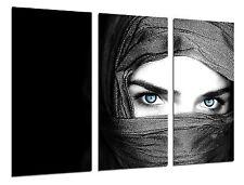 Cuadro Moderno Fotografico Ojos Azules Mujer,97x62cm ref. 26388