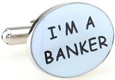 Trust Me I Am A Banker Cufflinks Loan Stock Wedding Fancy Gift Box Free Ship USA