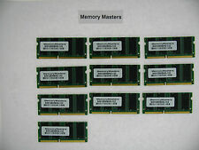 128MB MEMORY 16X64 PC133 7NS 3.3V SDRAM 144 PIN SO DIMM Lot of 10
