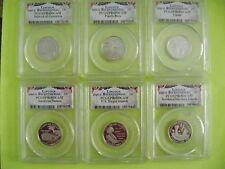 2009-S PCGS PR69DCAM CLAD DC & US TERRITORIES 6-COIN QUARTER PROOF SET
