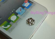 iPHONE iPAD Mini 2 3 3GS 4 4S 5 5C 5S HOME BUTTON STICKER w/ Swarovski Elements