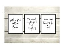 SET 0F 3 -Inspirational Quotes A4 prints- Gallery Wall Prints- Wall Art