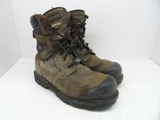 ROYER Men's 8'' Metal Free Composite Toe Composite Plate Work Boot Brown 8.5M