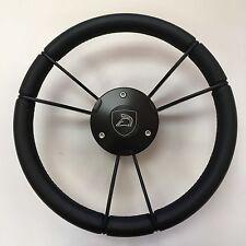 New OEM Gussi Boat Steering Wheel M931 Black Spokes & Center Plate