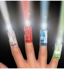 5 X FINGER LIGHTS - Light up RING LED RAVE PARTY FAVORS GLOW BEAMS Set Of 4