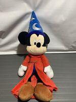 "Mickey Mouse Fantasia Sorcerer 14"" Plush Stuffed Toy Wizard Walt Disney World"