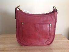 Frye Campus Rivet Dakota Leather Crossbody Shoulder Bag Burnt Red Brass $348 NWT