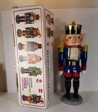 """VINTAGE VERO ERZGEBIRGISCHER 13"""" NUTCRACKER + BOX MADE IN SEIFFEN GDR 1949-1990"""