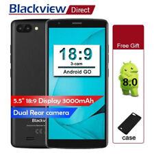 UNLOCKED Blackview A20 Smartphone 5.5inch 3G QuadCore Dual SIM 3000mAh 8GB ROM