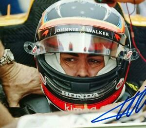 Fernando Alonso autographed large photo with certificate F1 driver