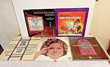 #90 Lot 5 LPs+Famous Radio+Gone With The Wind+Shirley Temple+Movie Themes+