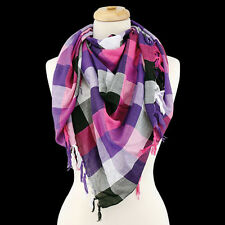 Multi Colored Plaid Print FASHION Scarf