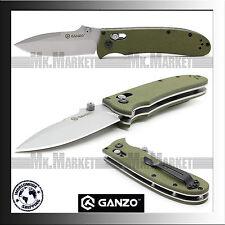 GANZO G704-G · 440C · G10 · Green · Axis Lock · Genuine GANZO Folding Knife