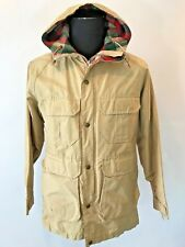 Vintage Woolrich Nylon Jacket Wool Blanket Lined Hooded made in Usa size M? Cj10