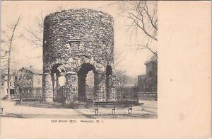 UDB postcard c1907, The Old Stone Mill, Newport, RI