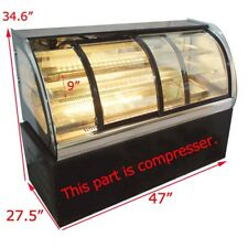47Inch Refrigerated Bakery Display Cabinet 220V Commercial Cake Cooler Showcase