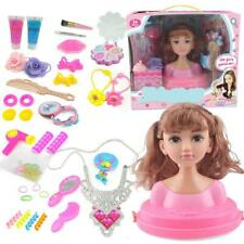Makeup Doll Set Princess Hair Styling Head Doll Playset Beauty Fashion Girl Toy