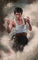 ZWPT104 high quality 100% hand-painted BRUCE LEE oil painting art on Canvas