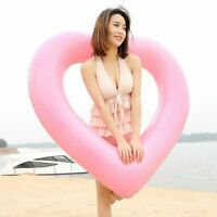 Inflatable Heart Shaped Swimming Rings Floating Pool For Adult Summer Water Toys