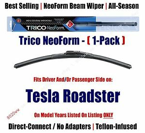 (Qty 1) Super Premium NeoForm Wiper Blade fits 2008-2011 Tesla Roadster 16260