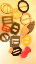 Collection of vintage buckles,1xenamel,1x30,s