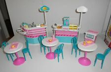 "Barbie ""Much To Do"" Food Court Lot with MANY Cool Accessories"